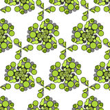 Funny hilarious, amusing pattern with bright circles. natural green background. Stock Photo