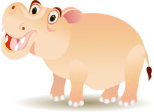 Funny hippo cartoon Royalty Free Stock Photos