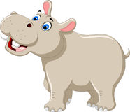 Funny hippo cartoon smiling Stock Photo