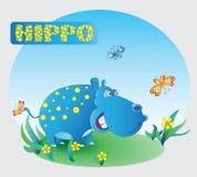 Funny Hippo. Zoo. Stock Photos