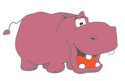 Funny hippopotamus. With the open mouth Vector Illustration