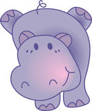 Funny hippopotamus - vector illustration Stock Photo