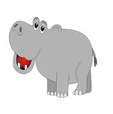 Funny hippopotamus on white background Stock Photography