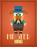Funny hipster dog Stock Images