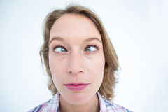 Funny hipster grimacing Stock Photos