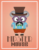Funny hipster mouse Royalty Free Stock Photos