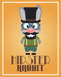 Funny hipster rabbit Stock Photo
