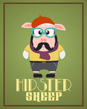 Funny hipster sheep Royalty Free Stock Photo