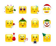 Funny holiday anime stickers Royalty Free Stock Images