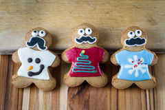 Funny holiday gingerbread cookies Royalty Free Stock Photography