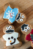 Funny holiday gingerbread cookies Stock Photography