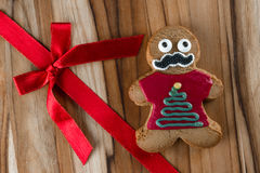 Funny holiday gingerbread cookies Royalty Free Stock Photo
