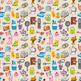 Funny home thing seamless pattern Royalty Free Stock Images