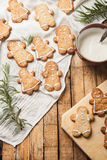 The funny homemade sugar cookie Royalty Free Stock Images