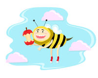 Funny honey bee Royalty Free Stock Photos