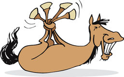 Funny horse. Illustration of funny horse with tangled legs Stock Photography