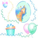 Funny horse royalty free stock photos