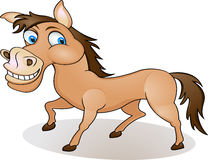 Funny horse cartoon Stock Photos