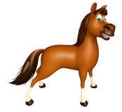 funny Horse cartoon character Royalty Free Stock Photography