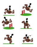 Funny horse rider. A  cartoon representing a funny horse rider Stock Photography