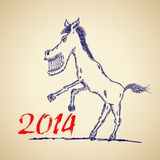 Funny horse sketch Stock Photography