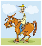 Funny horseman Royalty Free Stock Photos