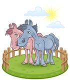 Funny horses Royalty Free Stock Image