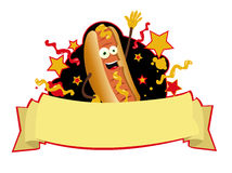 Funny hot dog banner Stock Photography