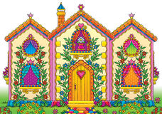 Funny house. High resolution illustrations of the funny colorful house Stock Photography