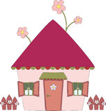 Funny house. Hand drawn illustration of fun house Royalty Free Stock Images