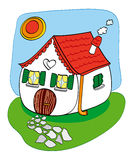 Funny house. Funny illustration that represents a small house fairytale Stock Photo