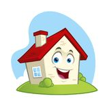 Funny house character. Vector illustration of a funny house, cartoon style Stock Photo