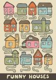 Funny houses Stock Photos