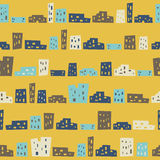 Funny houses seamless pattern Royalty Free Stock Photo
