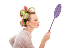 Funny housewife Royalty Free Stock Photography
