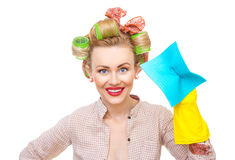 Funny housewife Stock Photography