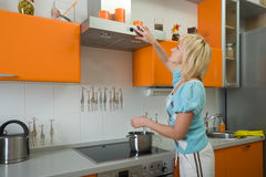 Funny housewife Stock Photos