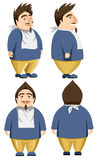 Funny hungry man character Stock Photos