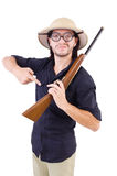 Funny hunter Royalty Free Stock Photography