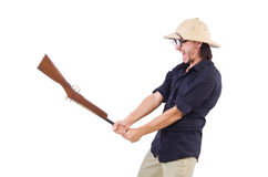 Funny hunter Stock Photo
