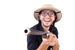 Funny hunter Stock Photos