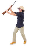 Funny hunter Stock Photography