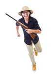 Funny hunter Stock Image