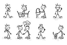 Funny hygiene vector illustration