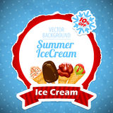 Funny ice cream background Stock Photo