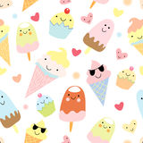 Funny ice cream texture Royalty Free Stock Photos
