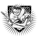 Funny ice hockey shield Royalty Free Stock Photography