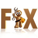Funny icon with maintenance tool and safety helmet. Illustration Stock Photography