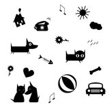 Funny icons Stock Image