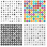 100 funny icons set vector variant royalty free illustration